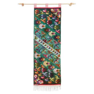 Wool tapestry, 'Flight' - Wool tapestry