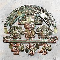 Copper wall adornment, 'Lambayeque Deity'