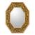 Mirror, 'Living Nature' - Green and Gold Reverse Painted Glass Wall Mirror from Peru thumbail
