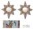 Mohena wood mirrors, 'Radiant Flower Stars' (pair) - Reverse Painted Glass Mirrors (Pair) (image 2) thumbail