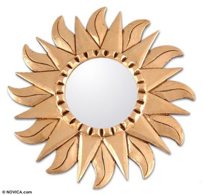 Hand Made Gilded Wood Metallic Mirror
