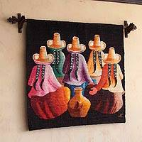 Wool tapestry, 'Women' - Hand Made Peruvian Cultural Wall Hanging Tapestry