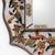 Cedar mirror, 'Antique Charm' - Reverse Painted Glass Wall Mirror (image 2d) thumbail