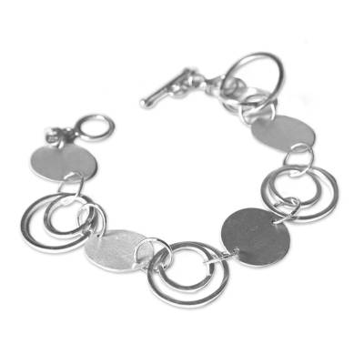 Silver Link Bracelet Artisan Jewelry