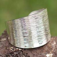 Bracelet, 'Greatness' - Collectible Sterling Silver Cuff Bracelet