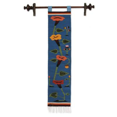 Handcrafted Floral Wall Hanging Tapestry