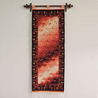 Wool tapestry, 'Flocks of Birds'