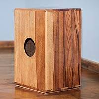 Wood cajon drum, 'Reverberations'