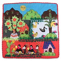 Applique wall hanging, 'Harvest Festival' - Applique wall hanging