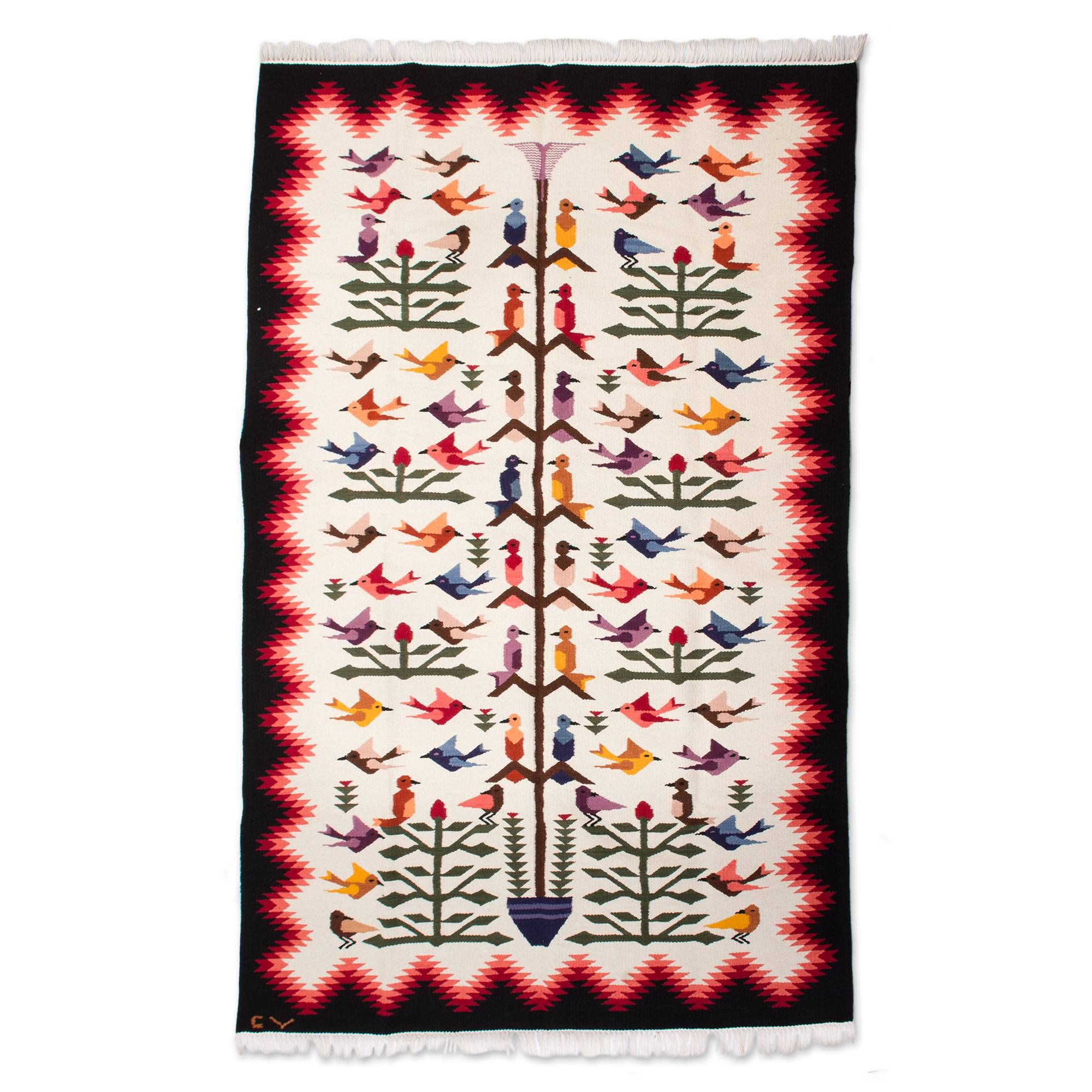 Perfect Exquisitely Handcrafted Bird Area Rug (6x8)   Hummingbirds | NOVICA