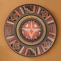 Cuzco plate, 'Cosmic Hummingbird'