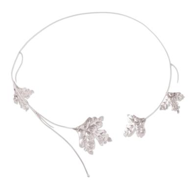 Fine Silver Collar Necklace
