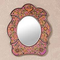 Mirror, 'Garden of Love' - Unique Hand Painted Floral Themed Mirror