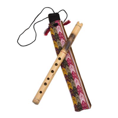 Bamboo quena flute, 'Night Owl' - Peruvian Bamboo Quena Flute