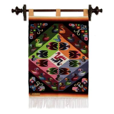 Fair Trade Animal Themed Wool Tapestry