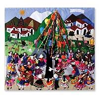 Featured review for Applique wall hanging, Festival