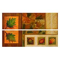 'Autumn's Gift' (diptych) - Still Life Realist Painting (Diptych)