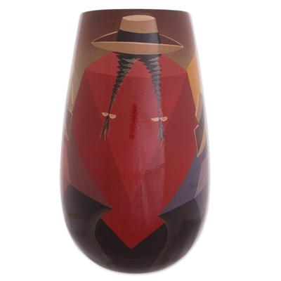 Handmade Cuzco Ceramic Vase