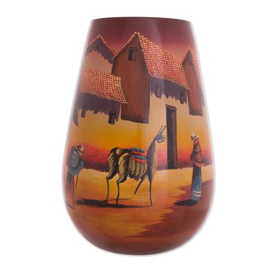 Handcrafted Cuzco Ceramic Vase