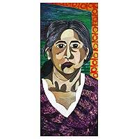 'Alejandra' - Expressionist Painting