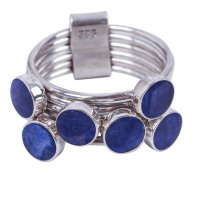 Unique Sterling Silver and Sodalite Ring