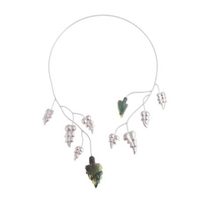 Unique Opalina and Fine Silver Collar