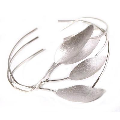 Silver wrap bracelet, 'Silver Shadows' - Silver wrap bracelet