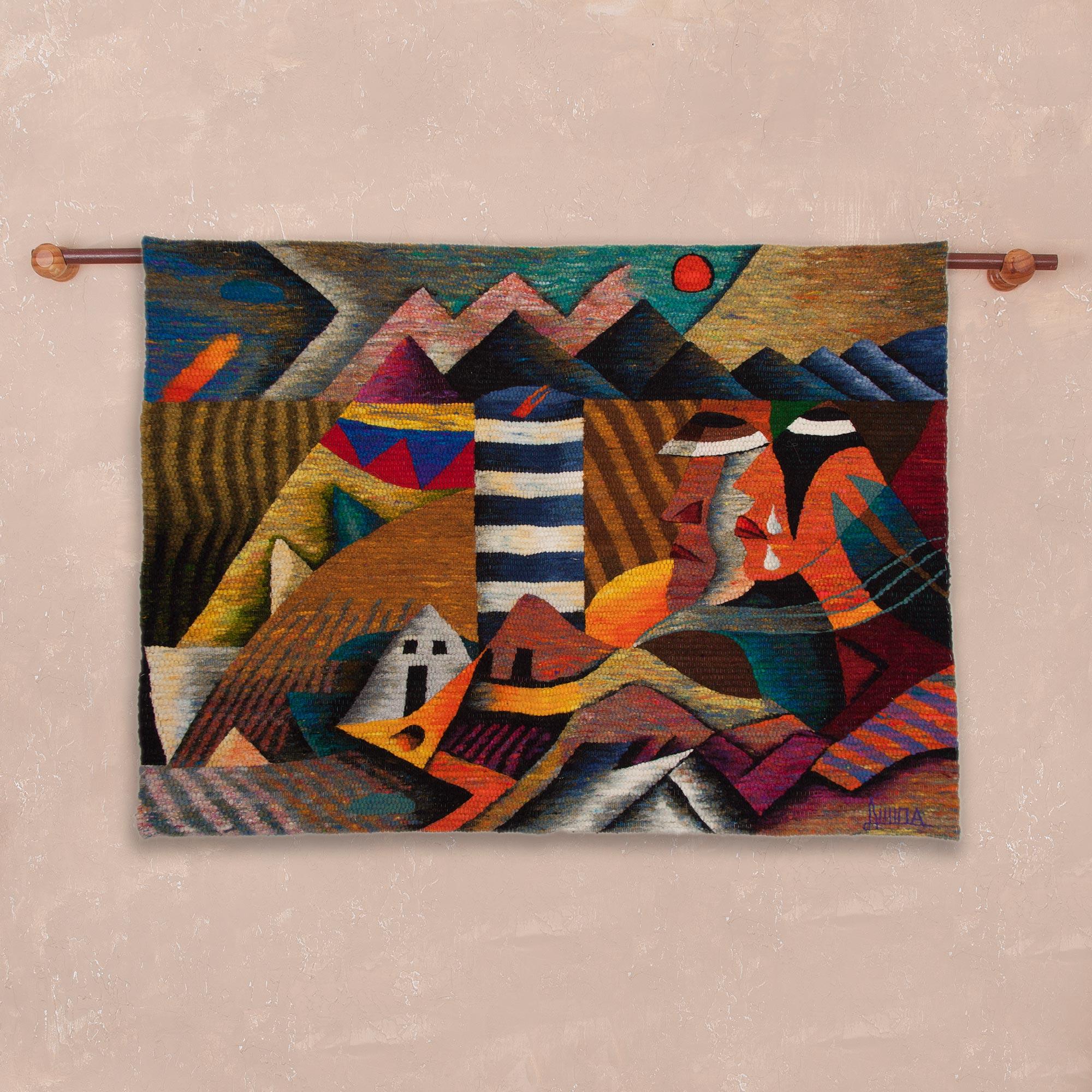 d4ed2ee08 Wool tapestry - Andean Tears | NOVICA
