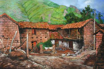 'Front of My House' (2007) - Architectural Realist Painting