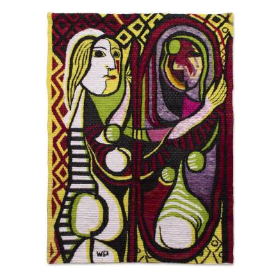 Handcrafted Modern Cubist Tapestry from Peru