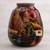 Ceramic vase, 'The Cottage' - Hand Painted Cuzco Ceramic Vase (image 2) thumbail