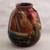 Ceramic vase, 'The Cottage' - Hand Painted Cuzco Ceramic Vase (image 2b) thumbail