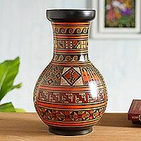 Aged Cuzco vase, 'Moon Rites'
