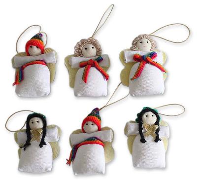 Handmade Angel Christmas Ornaments (set of 6)