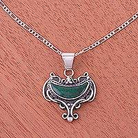 Chrysocolla pendant necklace, 'Inca Goblet' - Chrysocolla pendant necklace