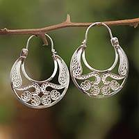 Earrings, 'Half Moon'
