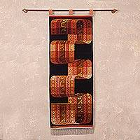 Wool tapestry, 'Inca Belt' - Andes Woven Tapestry