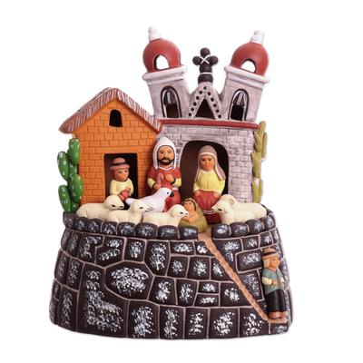 Ceramic Christmas Nativity Scene Handmade in Peru