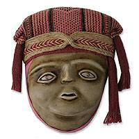 Recycled paper mask, 'Inca Mother' - Archaeological Wall Mask