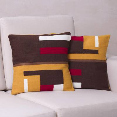 Alpaca blend cushion covers, Wari Colors (pair)