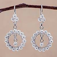 Silver dangle earrings, 'Filigree Princess' - Fine Silver Dangle Earrings