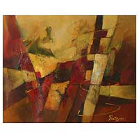 'Cubist Abstract' - Abstract Cubist Painting