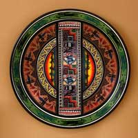 Cuzco plate, 'Visions of Cuzco' - Cuzco Ceramic Decorative Wall Plate