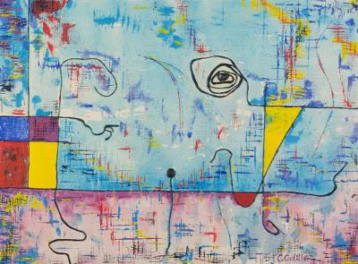 'Papageno and Papagena' - Contemplation Original Abstract Painting