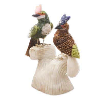 Collectible Gemstone Bird Sculpture