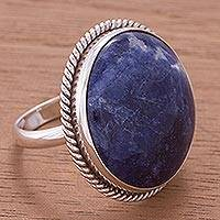 Sodalite ring, 'Stone of Venus' - Sodalite ring
