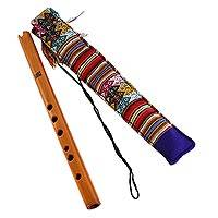 Wood quena flute, 'Andean Song' - Handcrafted Wood Quena Flute with Ornate Pouch