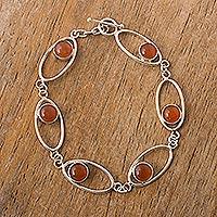 Opal link bracelet, 'Orbits' - Opal link bracelet