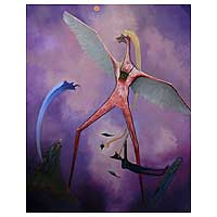 'Flying Personage' (2007) - Abstract Surrealist Painting (2007)