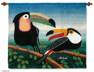 Hand Made Wool Tapestry from Peru